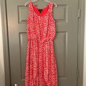 Orange 🍊 with white polka dot dress